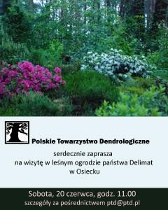 wizyta w leśnym ogrodzie w Osiecku - plakat