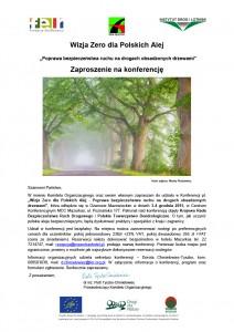 Wizja Zero dla Polskich Alej - zaproszenie