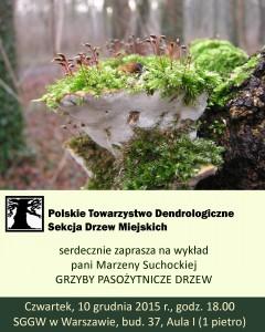 grzyby pasożytnicze drzew - plakat