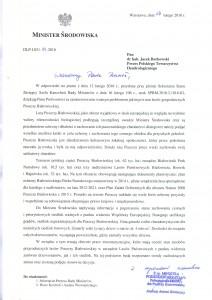 Odpowiedź Ministerstwa ws. Puszczy Białowieskiej