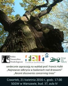 Wykład prof. Halle - plakat