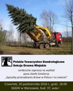 Przesadzanie drzew - plakat