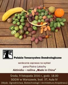 "Plakat: Aktinidia - roślina ""made in China"""