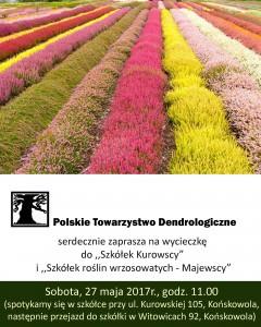 Wycieczka do szkółek roślin ozdobnych - plakat