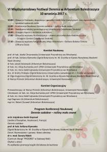 Festiwal Derenia - Bolestraszyce 2017 - program