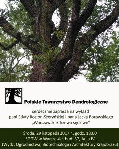 Plakat: warszawskie drzewa sędziwe