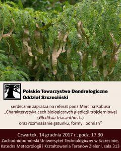 Plakat: Spotkanie Oddziału Szczecińskiego  -Gleditsia