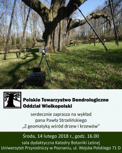 Plakat - wykład pt. 'Z geomatyką wśród drzew i krzewów'