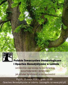 """Plakat - konferencja """"Kasztanowiec Benedykt"""""""