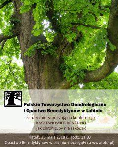 Plakat: konferencja kasztanowiec Benedykt