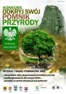 Plakat - konkurs - Odkryj swój pomnik przyrody