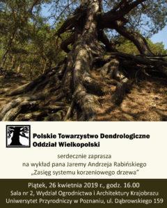"""Wykład pt. """"Zasięg systemu korzeniowego drzewa"""""""