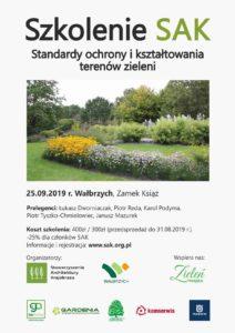 Szkolenie 'Standardy ochrony i kształtowania terenów zieleni'