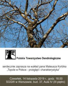 """Wykład: """"Topole w Polsce - przegląd i charakterystyka"""""""