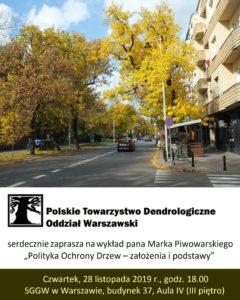 Plakat - spotkanie z dr Markiem Piwowarskim