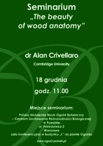 Plakat - seminarium dra Alana Crivellaro