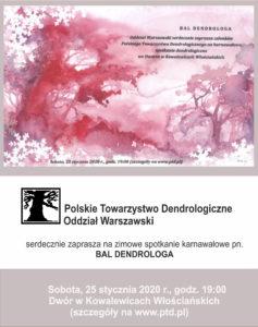 Plakat - Bal Dendrologa